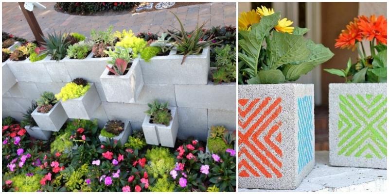 Cinder block gardening on a budget