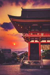 Kyoto Japan Sunset