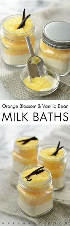 Orange blossom & vanilla bean milk bath salts