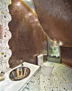 curved wall metallic