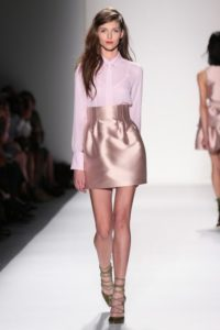 Marissa Webb's soft pink metallic skirt is TO DIE FOR! So cute!