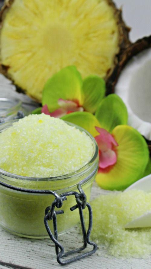 pina colada DIY bath salts recipe