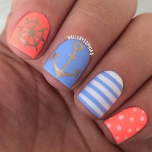 captain anchor ship summer nails