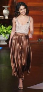 Vanessa Hudgens Metallic Skirt
