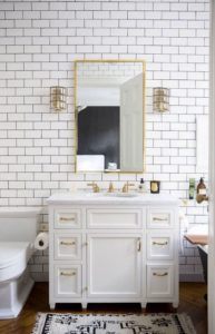 white gold bathroom diy