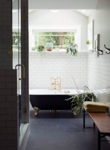 white gold bathroom