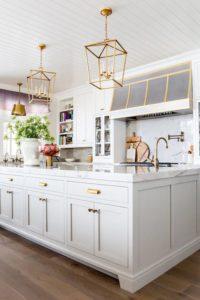 white gold kitchen marble