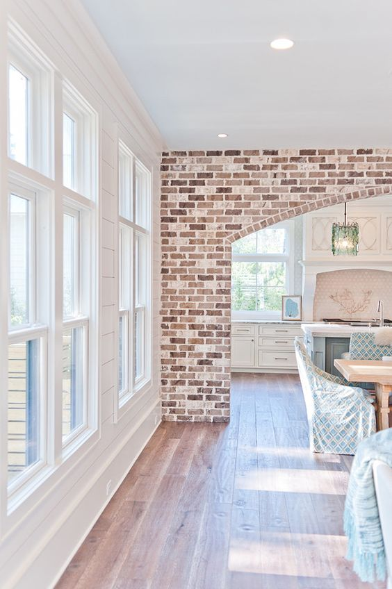 Brick is such an easy way to spruce up a room and add interest to an otherwise boring wall. Sometimes if you're lucky, you have already got some brick hiding in your walls waiting for you to discover it!