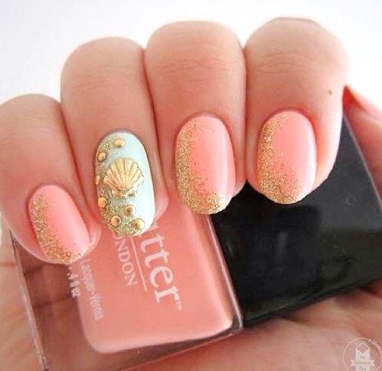 15 Summer Nails for Fun in the Sun - sea shell nail art