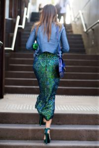 This gorgeous blue and green metallic skirt reminds me of a mermaid!