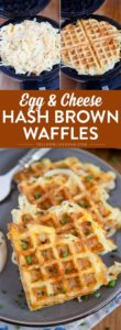Egg and cheese hash brown waffles