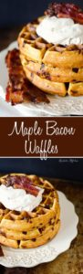 Maple bacon waffles