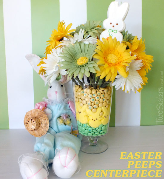 easter centerpiece peeps