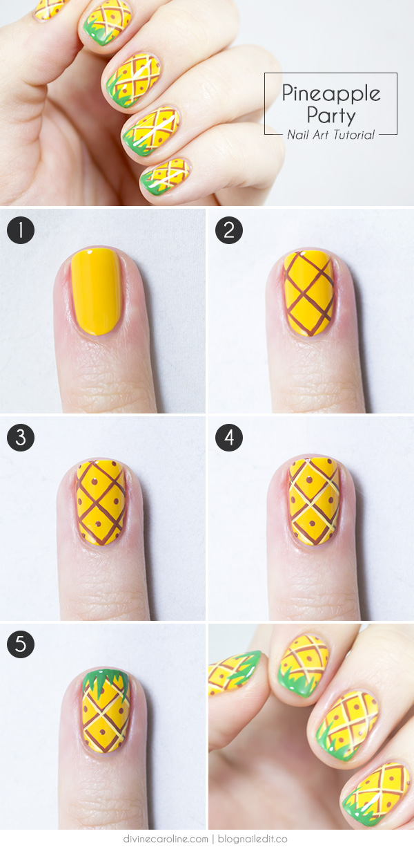 15 Summer Nails for Fun in the Sun - pineapple nail art