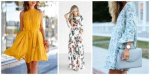 spring loose fitting dresses flattering
