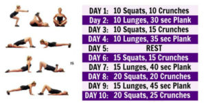 work out at home ideas