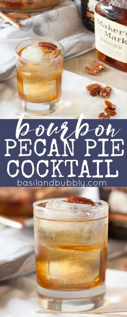 This bourbon pecan pie cocktail recipe has seriously got my attention! Seriously, who doesn't love pecan pie?