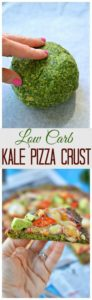 This kale pizza crust recipe is seriously going to impress a bunch of your family and friends. It looks SO DELICIOUS and is so healthy for you too!