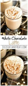 This white chocolate latte recipe looks so DELICIOUS! Can't wait to try this recipe out!