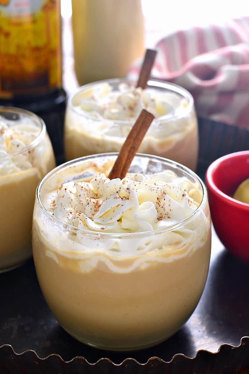 Eggnog Mudslide Cocktail