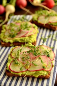 This springtime avocado and radish breakfast toast looks so YUMMY! I can't wait to try it out!