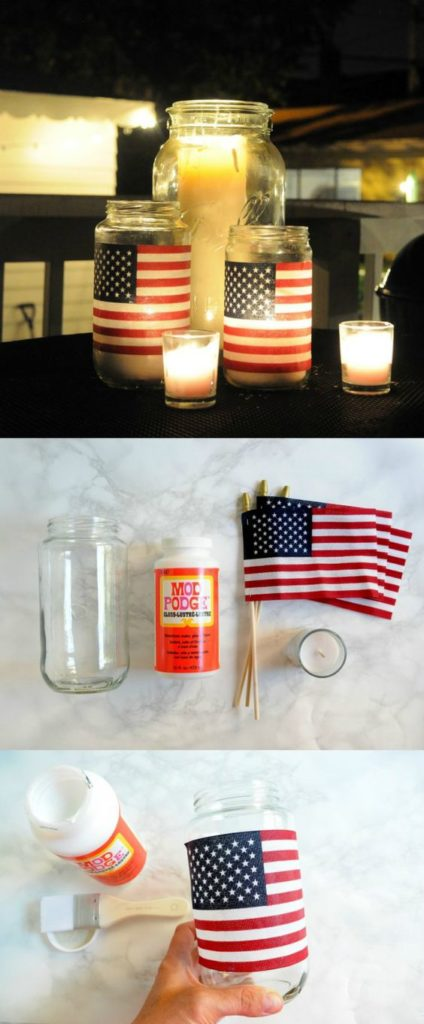 This American flag DIY lantern is so easy and cheap to do! I love it!