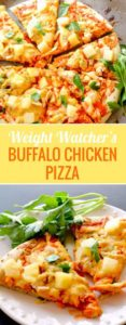 This weight watcher's buffalo chicken pizza is definitely a crowd pleaser! If you don't want to eat a bunch of calories but still want to indulge, this is a great option!
