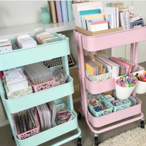 DIY Craft Room Cart