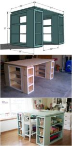 DIY Craft Room Desk