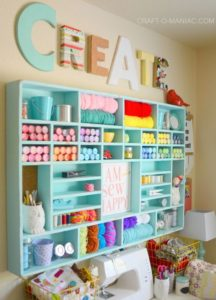 Craft Room Floating Organizational Wall