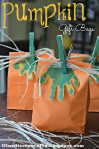 DIY Pumpkin Gift Bags and Party Favors