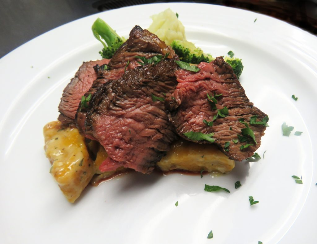 Balsamic Prime Rib with Pumpkin Gnocchi