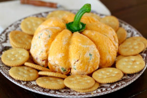 Cheese Pumpkin Appetizer Recipe With Crackers
