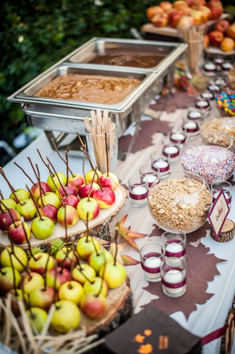 Caramel Apple Food Bar for Fall Parties