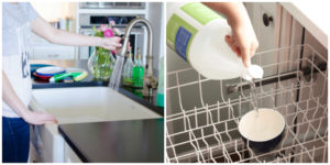 These 8 Dish Washing Hacks Are SO USEFUL! I normally can't stand doing the dishes but these make it a whole lot easier and cheaper too!