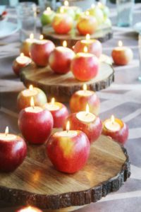 Apple Tea Lights Tablescape DIY