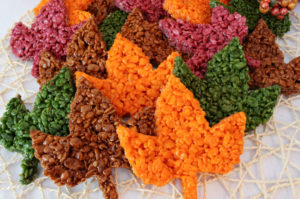 Fall Colored Rice Crispy Leaves Recipe