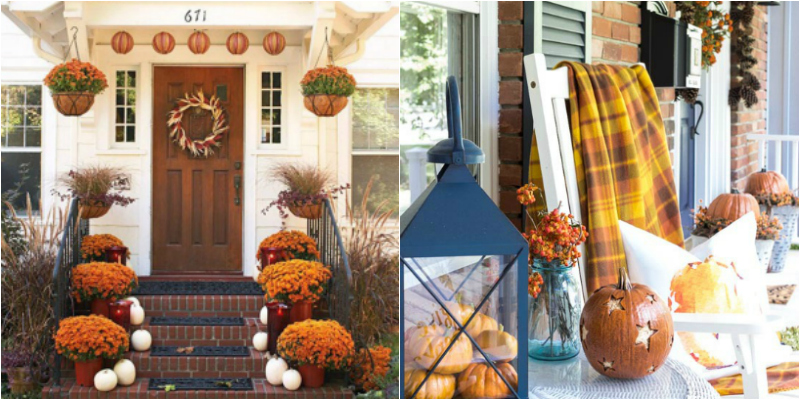 These 17 Fall Porch Decor Ideas Are STUNNING! If you use any of these you are for sure going to have the best porch on the street!