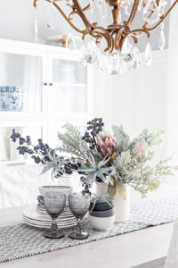 White and Cool Toned Fall Tablescape DIY