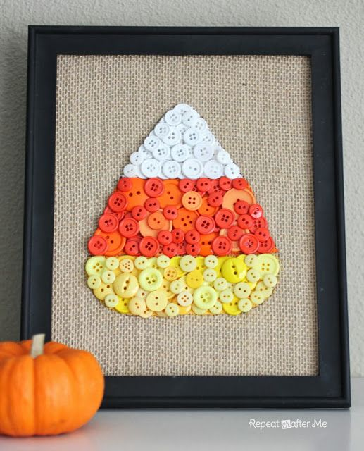 DIY Candy Corn Button Art