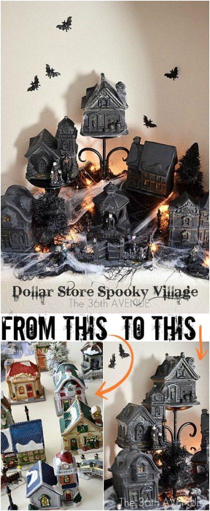 DIY Halloween Dollar Store Haunted Village