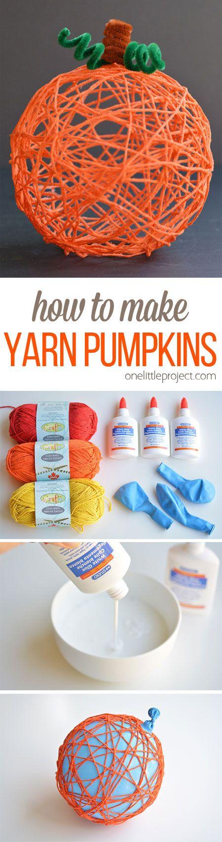 How to Make Yarn Pumpkin for Halloween