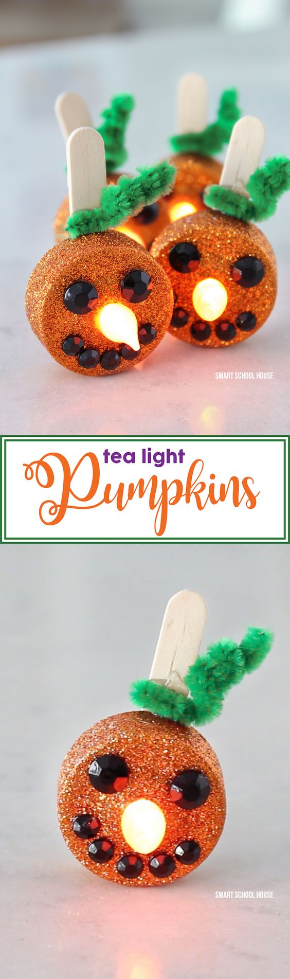 DIY Tea Light Pumpkins for Kids