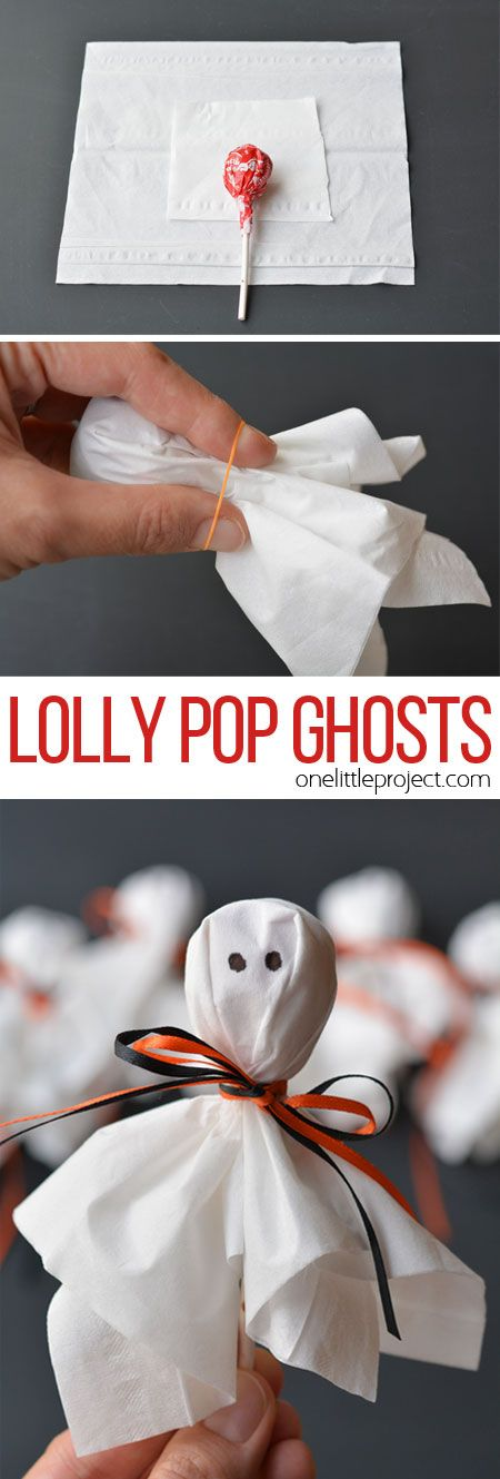 DIY Lolly Pop Ghost Treat Party Favors