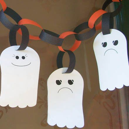 DIY Paper Ghost Garland for Kids