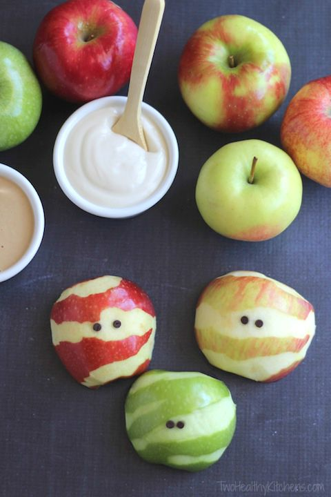 Apple Mummy Tutorial for Halloween Healthy Eating
