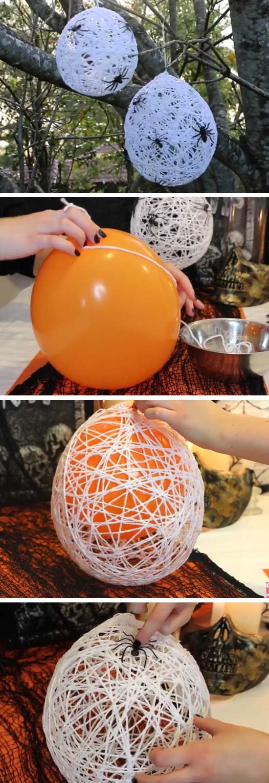 Easy DIY Halloween Spider Web Decor for Your Front Yard