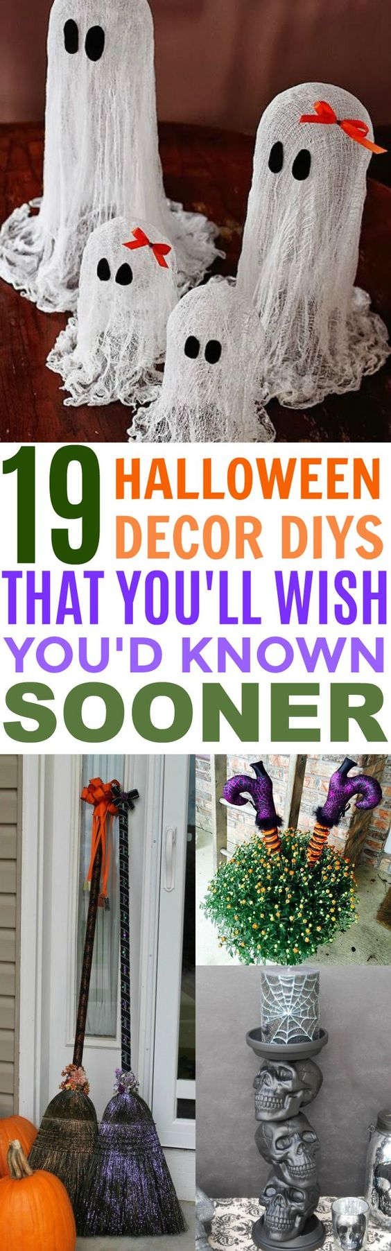 19 Spooktacular DIY Halloween Decor ideas You'll Wish You'd Known Sooner | Porch Ideas | Garage Decorations | Candle Holders | Goodie Bags