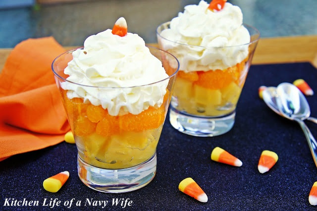 Halloween Candy Corn Fruit Cup