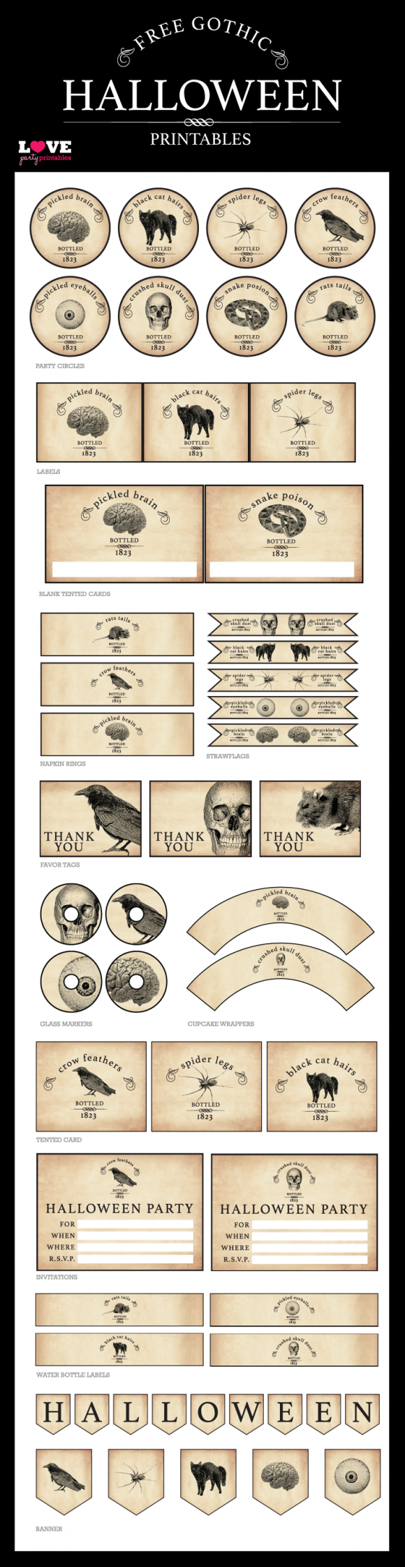 Gothic Halloween Free Printable